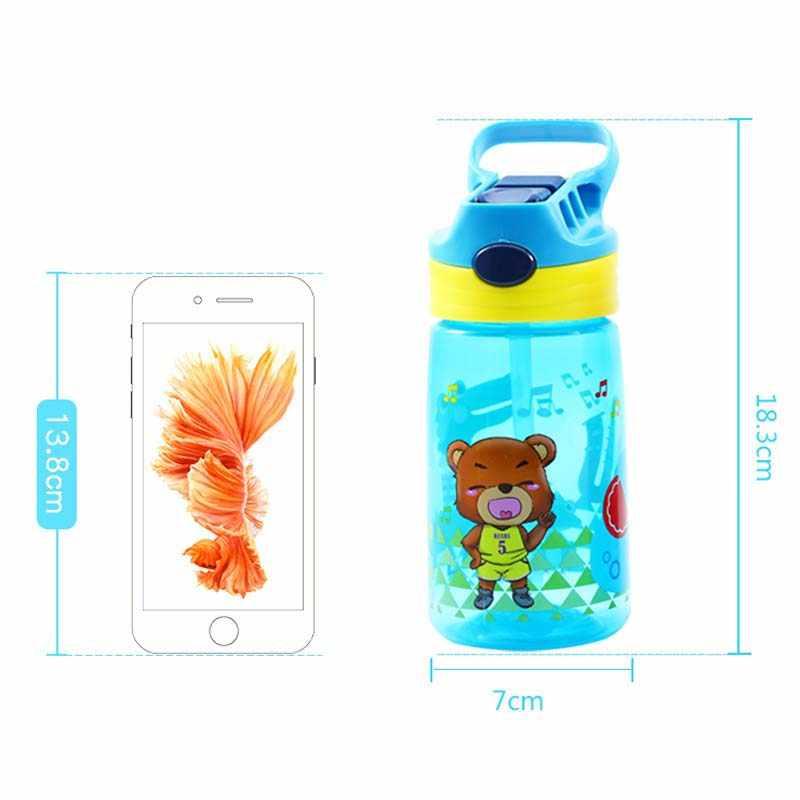 430 ml de Água de Plástico Crianças garrafas Shaker Proteína Liquidificador Garrafas com palha BPA Livre Esporte Minhas garrafas de Água Portátil