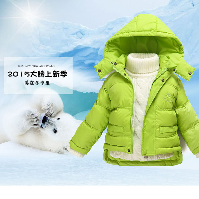 Children Winter Clothing set Boys Ski Suit Girl Down Jacket Coat + Jumpsuit Set 2-7 Years Kids Clothes For Baby Boy/Baby Girl