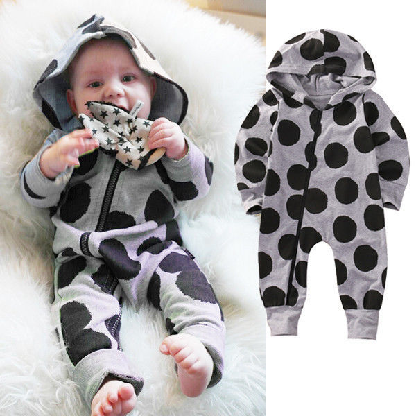 a42b95011ee4 UK Newborn Infant Baby Boys Girls Romper Long Sleeve Warm Clothes ...