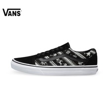 Original Vans White and Black Unisex Skateboarding Shoes Sports Shoes  Sneakers