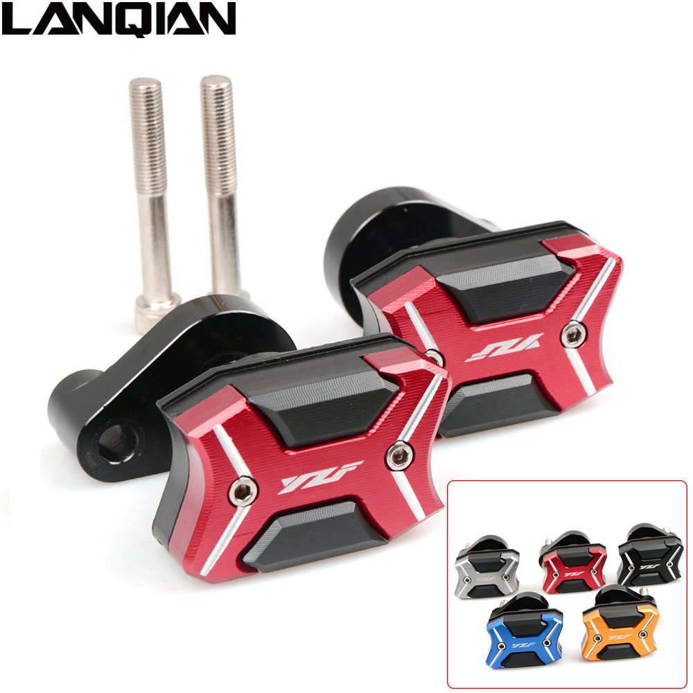 NEW Motorcycle CNC Frame Slider Crash Engine protect Pad Side Shield Protector For YAMAHA YZF R6 2008- 2016 R1 2007 2008 YZF-R6 new arrival motorcycle cnc crash pad engine cover frame sliders crash protector for yamaha yzf r3 2015 2016 r25 2013 2015