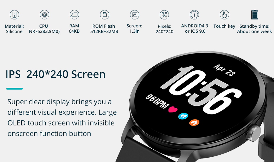 COLMI V11 Smart watch IP67 waterproof Tempered glass Activity Fitness tracker Heart rate monitor BRIM Men women smartwatch 13