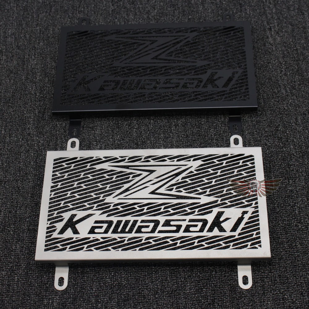 For Kawasaki Z300 Z250 (Compatible ABS) 2013-2016 2015 Stainless Steel Motorcycle Radiator Grille Guard Cover Protector