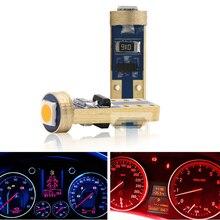 10 個T5 58 74 286 W1.2W 3030 ledウェッジダッシュボードゲージランプ車最新警告インジケータ計器クラスタライト電球