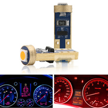 10PCS T5 58 74 286 W1.2W 3030 LED Wedge Dashboard Gauge Lamps Car Newest Warning Indicator Instrument Cluster Lights Bulb