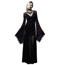 With Lace Flare Black&Violet