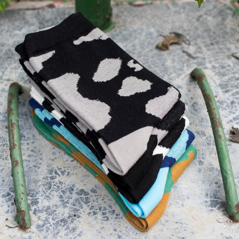 fashion men in tube socks man sock pattern cows EUR39-44