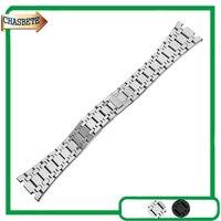 Stainless Steel Watch Band For AP Watchband 23mm Men Women Butterfly Clasp Metal Strap Belt Wrist Loop Bracelet Silver