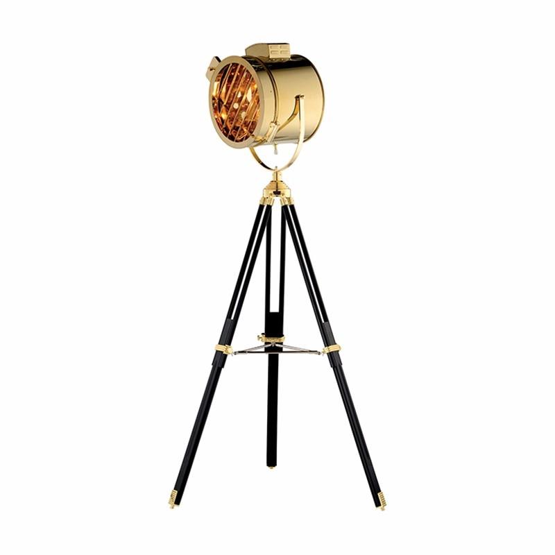 Nordic Vloerlamp Zoeken Floor Licht Hout Statief Been Metalen Lampenkap Lights Armatuur Chrome Gold Chrome Kleur Lamp Staande Lamp Geavanceerde TechnologieëN
