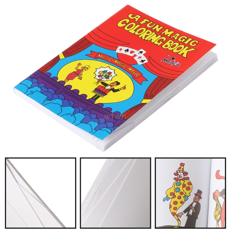 Comedy Magic Coloring Book Magic Tricks Illusion Kids Toy Gift Funny Baby Toy MAY10 Dropship