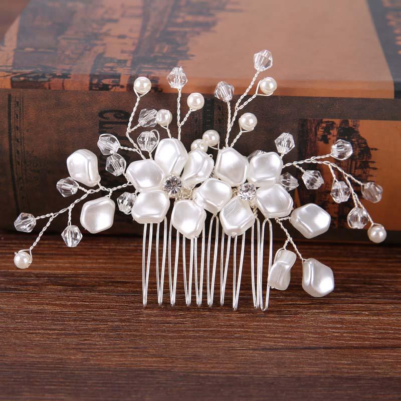 Pearl Flower Hairband საქორწილო - მოდის სამკაულები - ფოტო 4