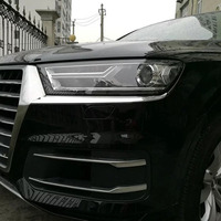 TOMEFON Voor Audi Q7 2016 2017 Koplamp Cover Hoofd Lamp Trim Decoratieve Auto Styling Accessoires Tuning Chroom ABS Chrome 2 STKS