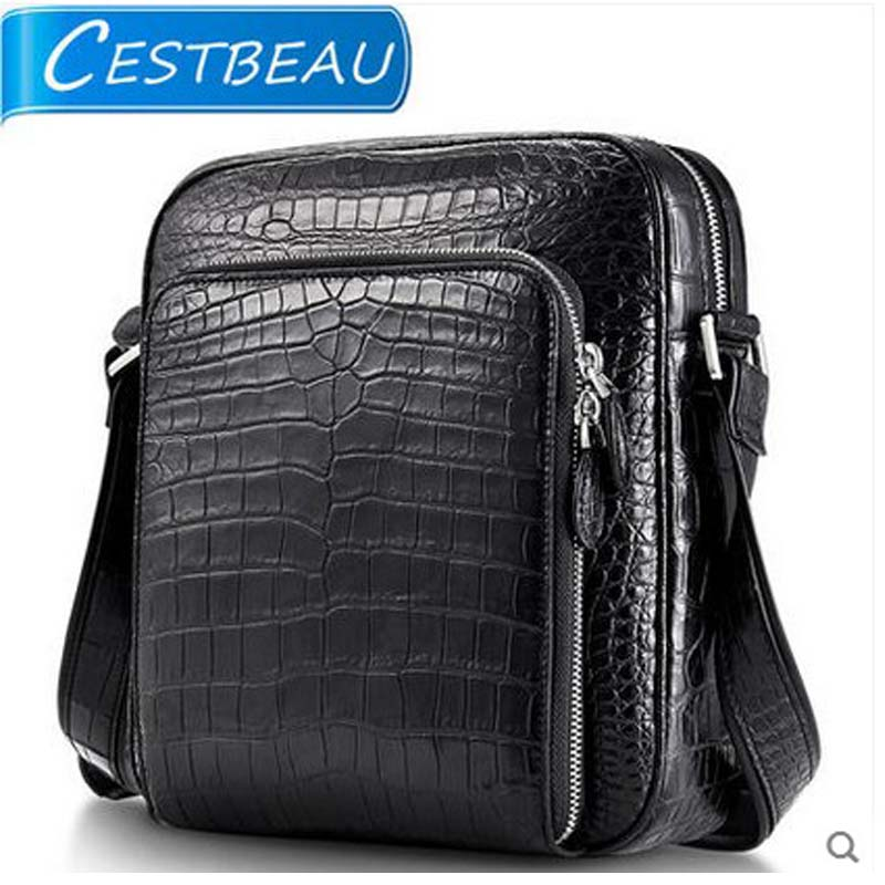 cestbeau one-shoulder men bag  made of two belly  high end area skin men crocodile skin bag maibomengnuo authentic crocodile skin wallet belly belly fashionable contracted men thin money clip upright money
