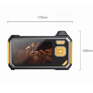 Image 4 - 4.3 pollici 6LED 8 millimetri Endoscopio 1080 P Macchina Fotografica di Controllo Del Periscopio 18650 Batteria Industriale Serpente Duro Endoscopio Palmare