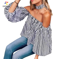 Simplee Apparel Sexy Slash Neck Ruffles Women Tops Tees Off Shoulder Beach Summer Style Tops Women