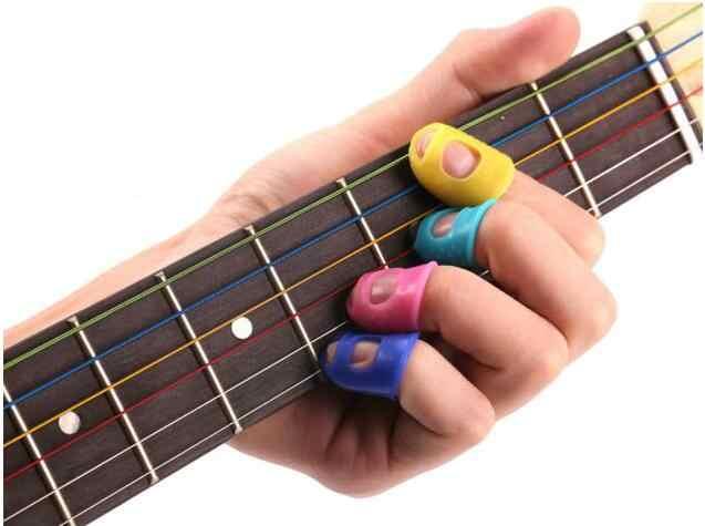 4 шт. наперсток для пальцев силиконовая гитарная струна защита от пальцев от нажатия палец баллада аксессуары для гитары GYH