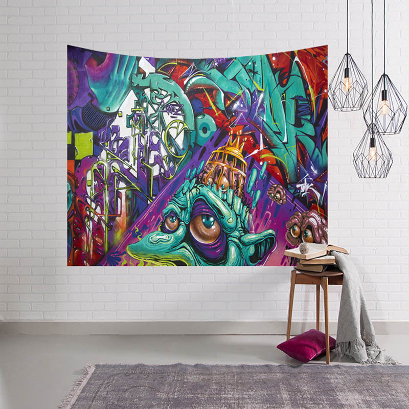 Doodle Painting Tapestry Wall Hanging Bohemian Home Decor