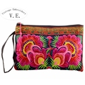Vintage Embroidery Day Clutch National Embroidered Floral Long Wallet Envelope Clutch Bag Tassel Evening Purse Bolsa Feminina