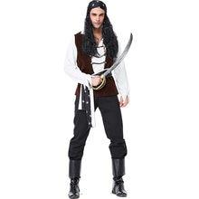 Mens disfraz de Halloween pirata de lujo adulto lindo lujo capitán Jack  Sparrow pirata traje de Cosplay 0ee405d84e0