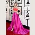 A 58 Annual Grammy Awards Celebridade Inspirado Vestidos Taylor Vermelho e Coral Two Tone Red Carpet Celebrity Dresses Vestido Dois peça