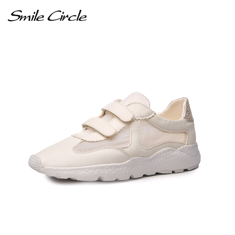 Smile Circle 2017 Spring Summer Mesh Casual Shoes Women Breathable Fashion White Thick bottom Shoes Platform Shoes For women women creepers shoes 2015 summer breathable white gauze hollow platform shoes women fashion sandals x525 50