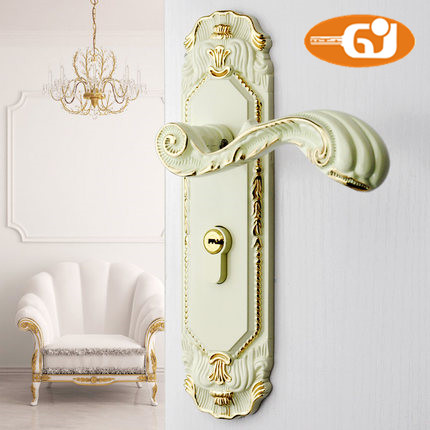 Europe Classic door handle room mortise lock fullset ivory color цена