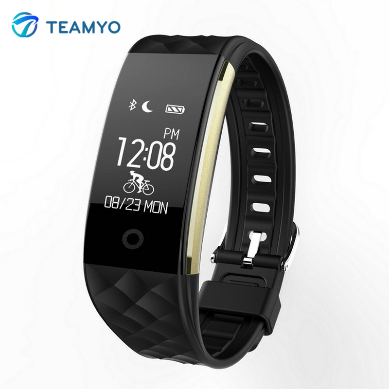 Teamyo Smart Wristband Heart Rate Monitor Smart Watch Fitness Bracelet Tracker SmartBand IP67 Sport Bluetooth for Android IOS id115 smart watch fitness sport wristband watch for ios android iphone heart rate monitor tracker men women watch oled bracelet
