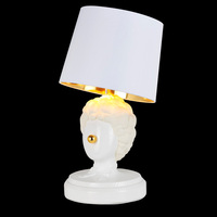 Modern Decorative Table Lamp Clown Creative White Clay Art Bedroom Bedside Lamp Bar Coffer Store Desk