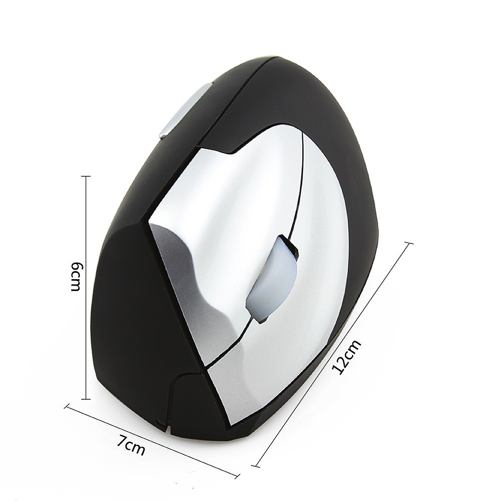 CHYI Wireless Vertical Mouse Ergonomic Left Hand Shape 4 Buttons Wrist Shoulder Healing Optical Mice with Mouse Pad Kit For PC in Mice from Computer Office