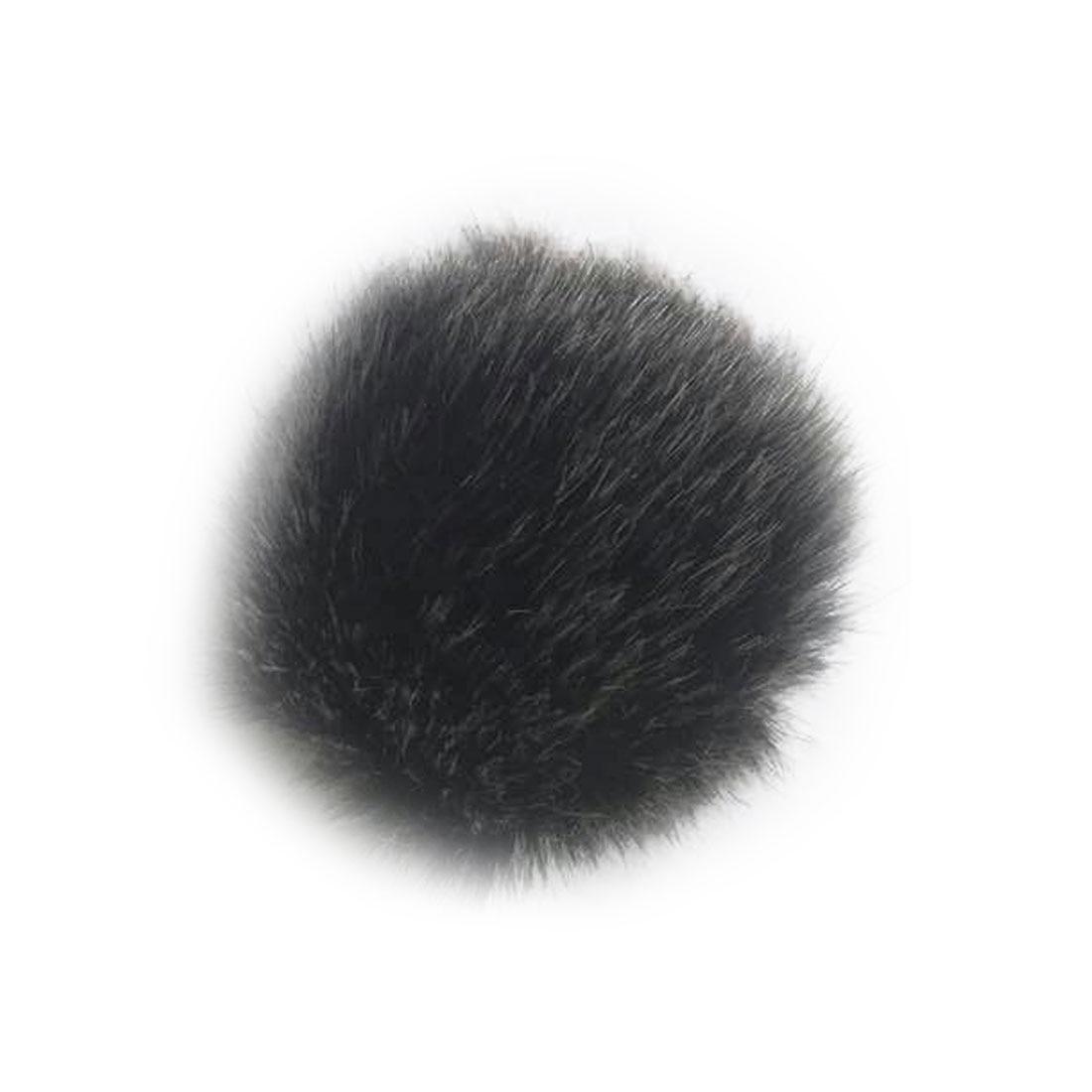 Marsnaska New Black Grey Fur Windscreen Windshield Wind Muff for Lapel Microphone Mic