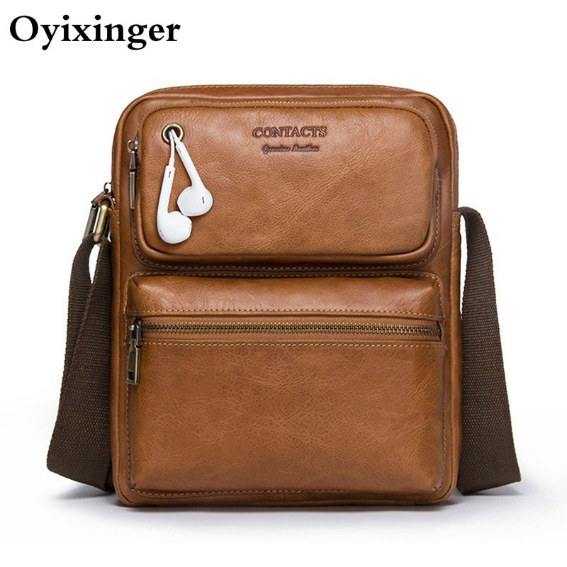 High Quality Small Men's Messenger Briefcase Male Shoulder Bag For Men Genuine Cowhide Soft Leather Bag Business Crossbody Bags