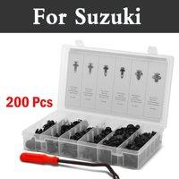 200pcs Car Styling Fasteners Set Plastic Push Rivets Clips Kit For Suzuki Ignis Jimny Kei Kizashi Liana Reno Splash Swift Sx4