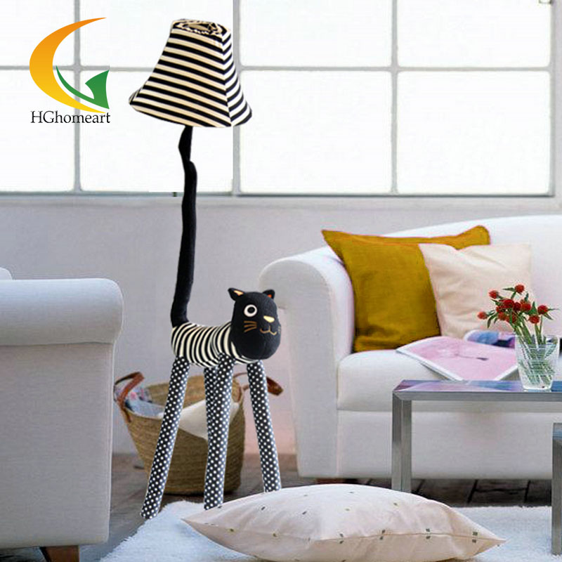 creative cartoon cloth star meow indoor floor lamp for decoration cozy cute living room bedroom bedside m sparkling td303 creative cartoon 3d led lamp