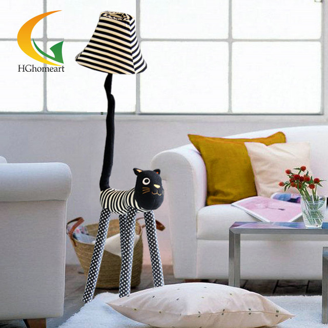 Cloth Stand For Bedroom Creative Decoration creative cartoon cloth star meow indoor floor lamp for decoration
