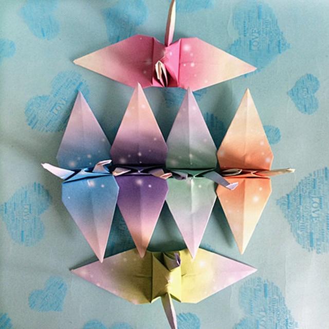 75 Stücke 7 Cm Platz Origami Papier Schnee Serie Falten Papierherstellung Papier  Blumen Falten Kran Quilling