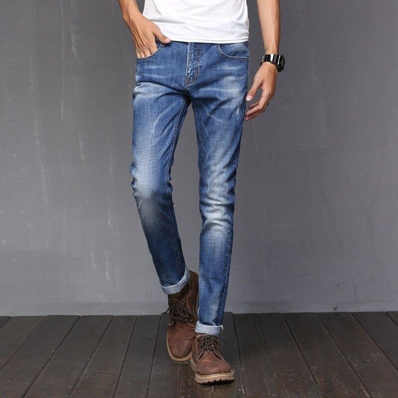 2017 Для мужчин расслабленным нужным Жан Супер удобные authentics классический эластичность мотоциклов прочный джинсовые штаны Мужская обувь Cut В... ...