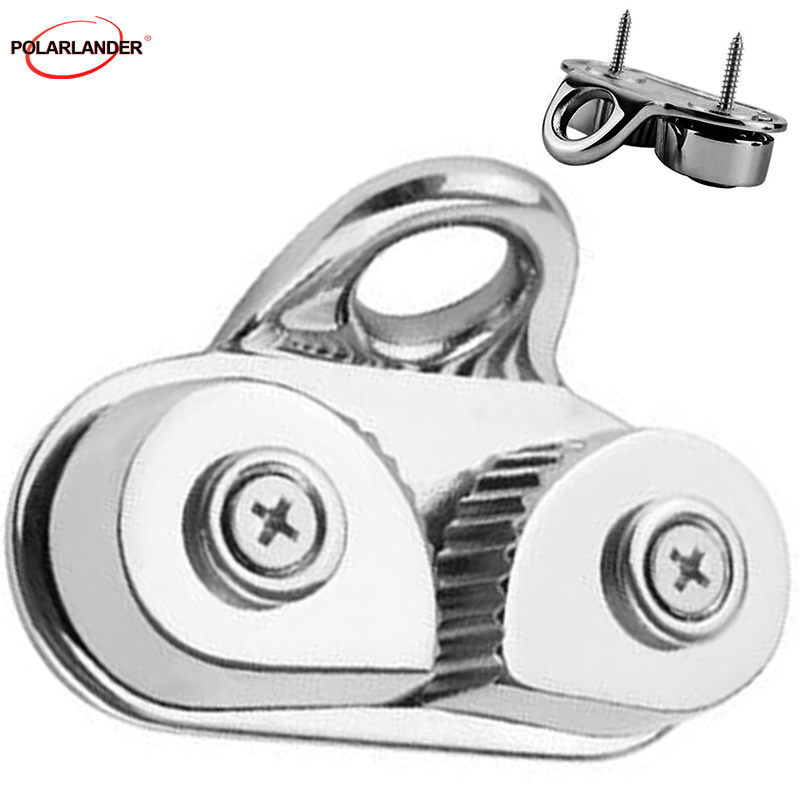 Marine Sailing Sailboat Kayak Canoe Dinghy Leading Ring Boat Cam Cleats Stainless Steel 316 Cam Cleat
