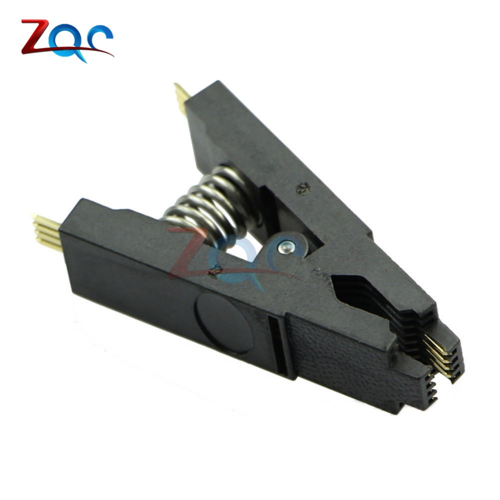 Programmer Testing Clip SOP8 SOP SOIC 8 SOIC8 DIP8 DIP 8 Pin BIOS/24/25/93 Flash Chip IC Socket Adpter Test Clamp bios sop16 soic16 original straight test clip pin pitch 1 27mm universal body programming clip test clamp