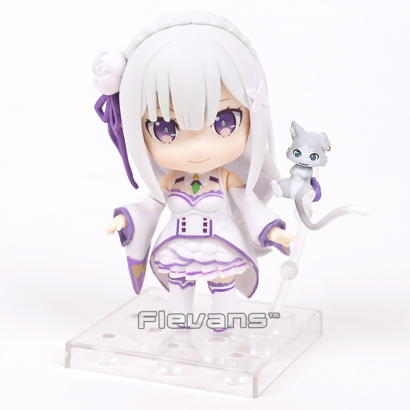 Nendoroid Re:Life in a different world from Seikatsu Emilia 751 PVC Action Figure Collectible Model Toy 10cm rem re life in a different world from zero action figure nendoroid 10cm pvc anime figure collectible model toys brinquedos