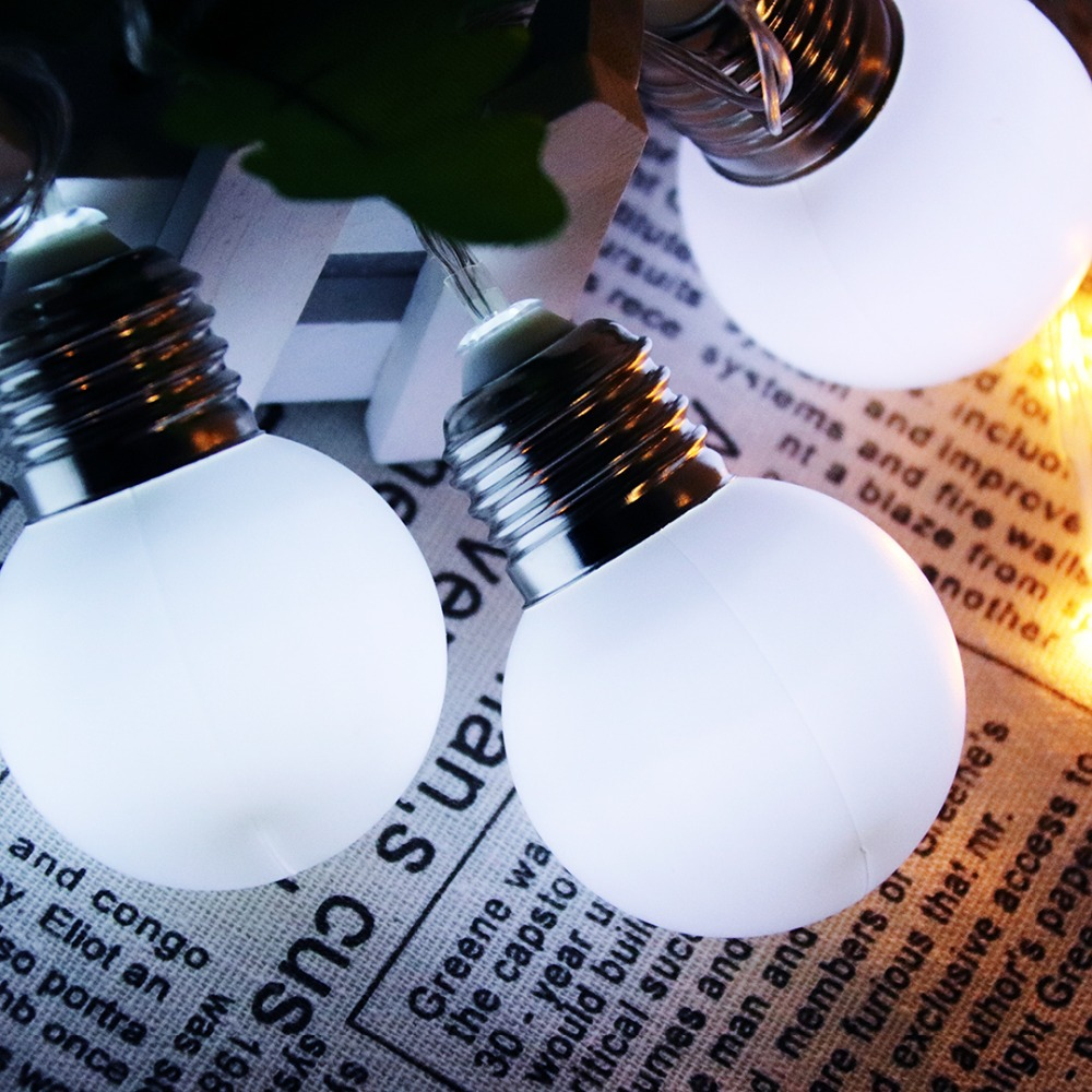 LED String Lights Simulation Bulb Shapes Decoration Light Festival Christmas Ramadan Wedding Birthday Party Lanterns 1.5/3M JQ