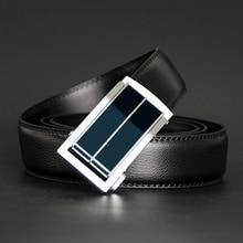 Men Automatic Alloy Buckle Leather Belt