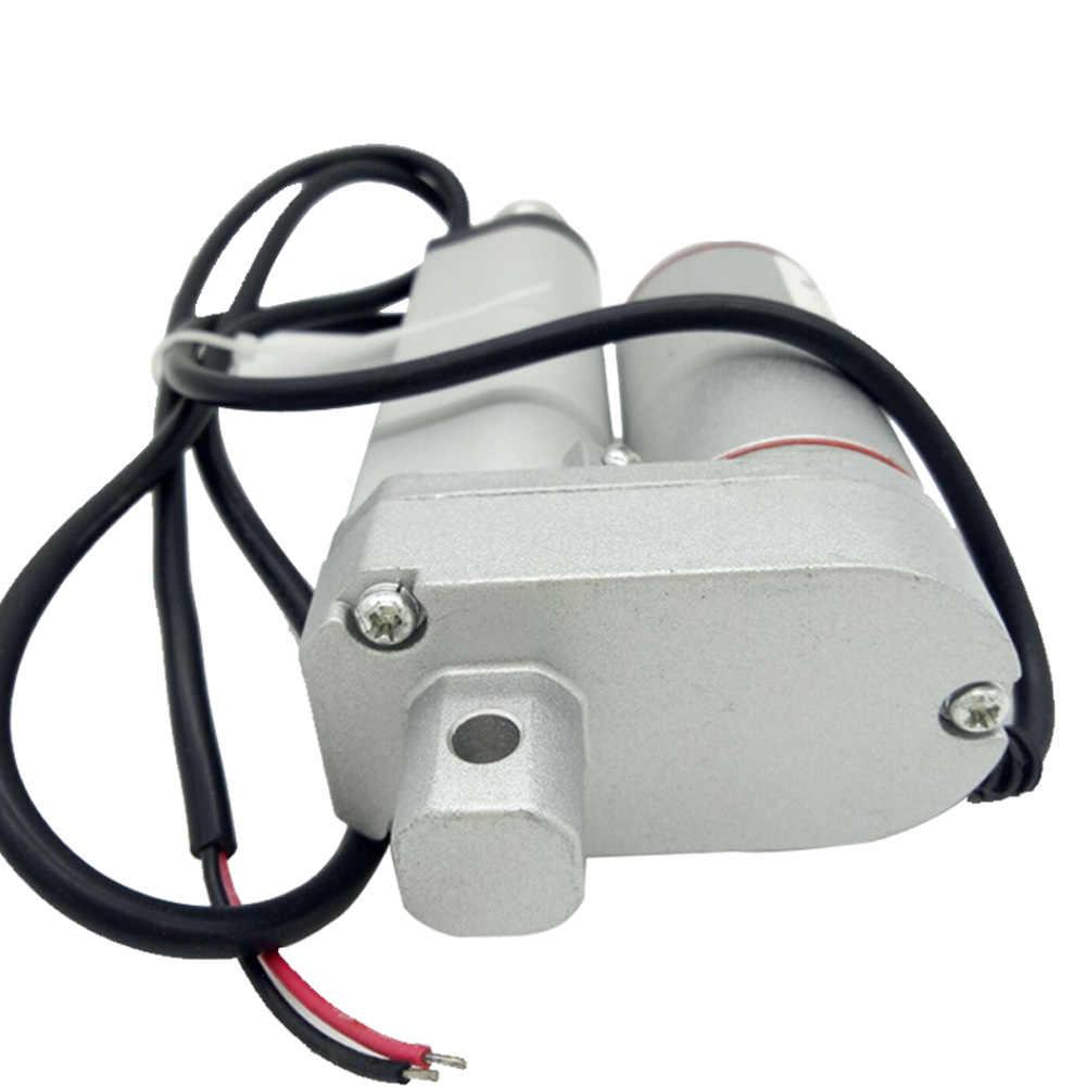 Ход поршня 100 мм 12 V линейный привод 24 V-48 V водонепроницаемый мотор IP54/IP65 Скорость 5-40 мм/сек. Нагрузка 50N-900N для роботов для система открытия окна DIY