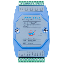 DAM6303 Mixed Analog Digital Input Data Acquisition Module Modbus Voltage Current Converter