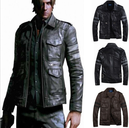 Resident Evil 6 Leon Scott Kennedy Game Cosplay Costume Leather