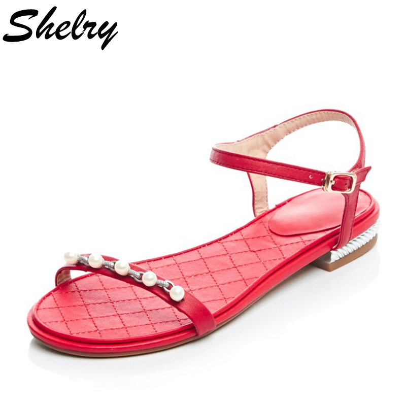 Red sandals for ladies