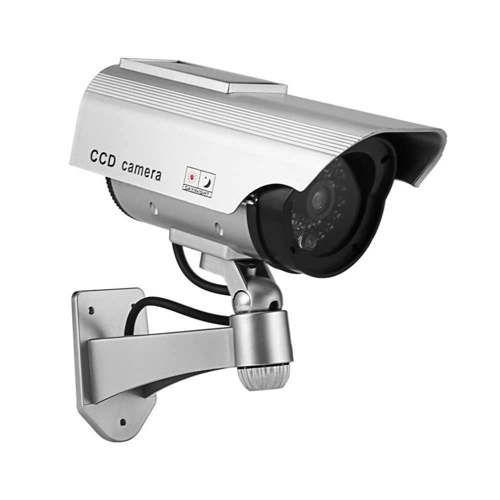 الدمية كاميرا تعمل بالطاقة الشمسية وميض وميض LED وهمية داخلي في الهواء الطلق مراقبة الأمن كاميرا رصاصة كاميرا تلفزيونات الدوائر المغلقة