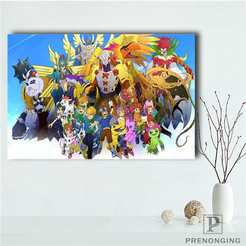 Custom Canvas Poster digimon  (19) Printing Posters Cloth Fabric Wall Art  Pictures For Living Room Decor#18-12-05-H-04-217(China)