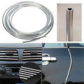 Hot Sale High Quality Silver Car Interior Decor Decorative Door Chrome Moulding Trim Strip U Style 4M