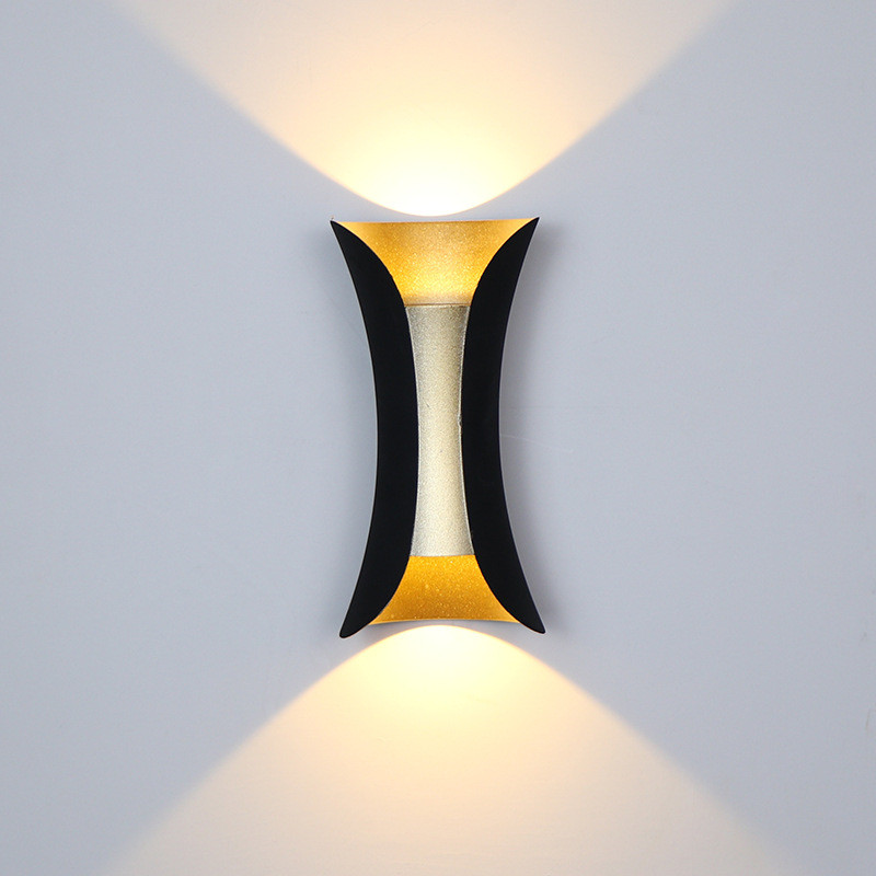 10W Waterproof COB led wall lamp Black/White/Golden Creative wall light fixture AC85-265V Indoor/Outdoor Foyer,Patio,Corridor