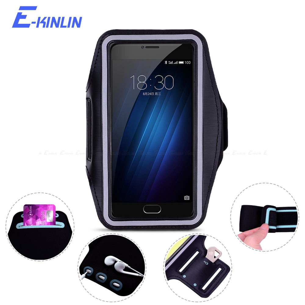 Outdoor Arm Band Cover Case For Meizu M3 M3s Mini Note Max M3x M3e MX6 MX5 MX5e U10 U20 Sport Running Gym Phone holder Bag Pouch